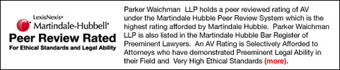 Martindale-Hubbell Peer Review Rated For the Ethical Standards and Legal Ability.